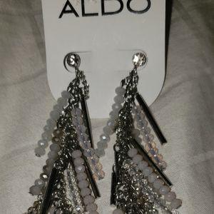 NWT Aldo Silver Dangly Earrings